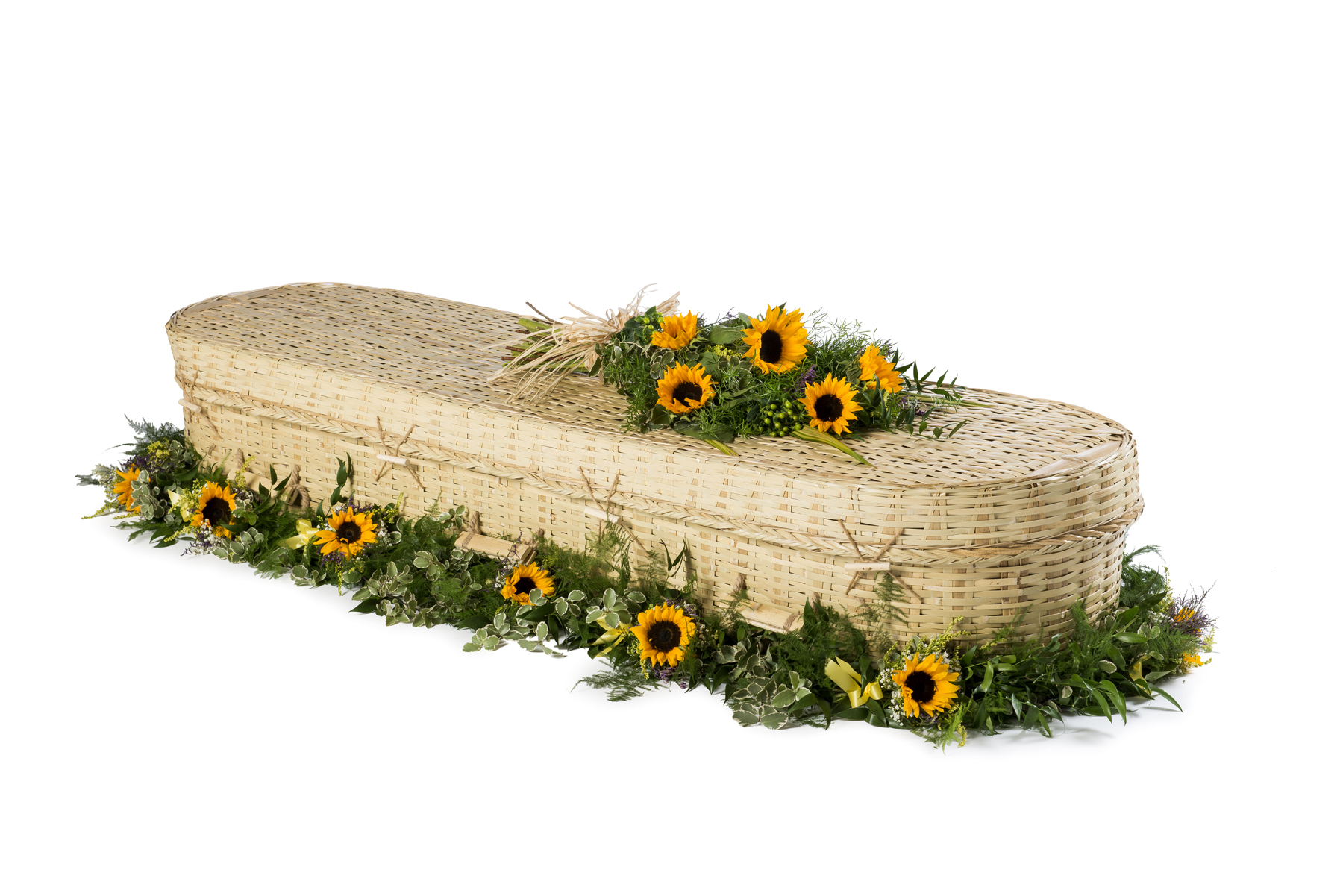 Bamboo Casket with garland