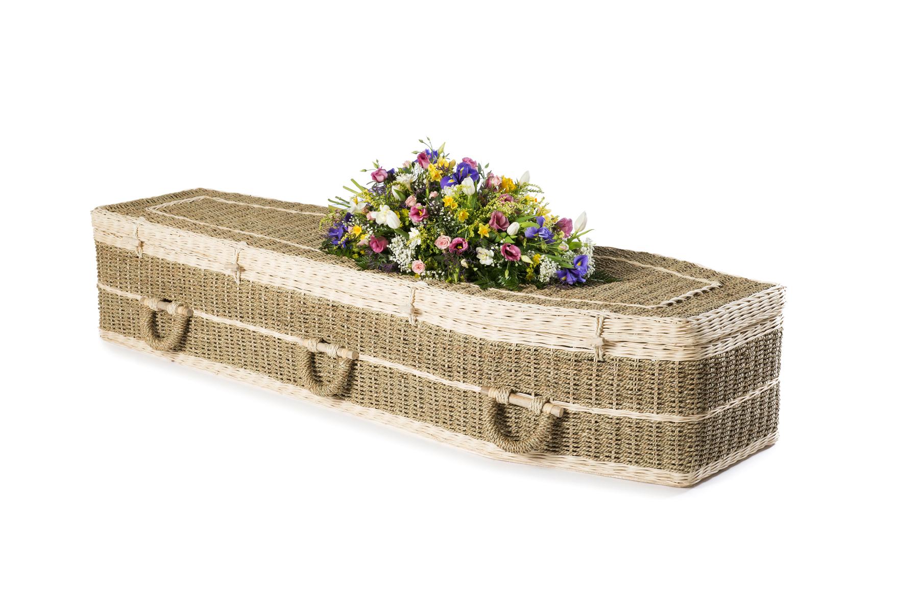Traditional Pandanus coffin